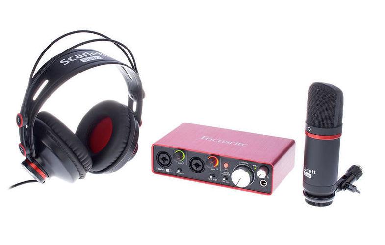 все цены на Звуковая карта внешняя Focusrite Scarlett 2i2 Studio Pack 2nd онлайн