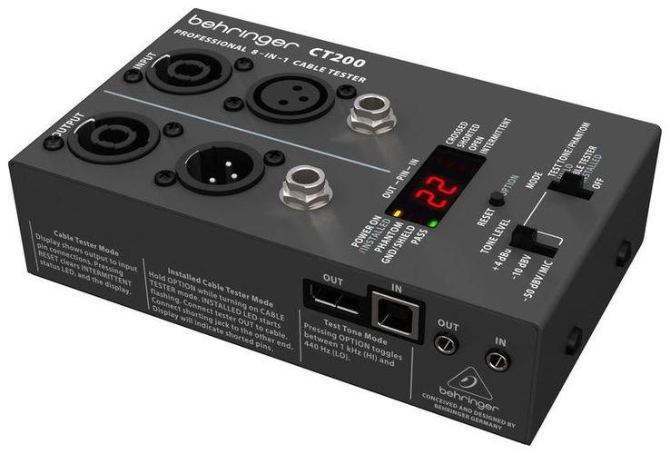 Устройство для измерения звука Behringer CT200  кабельный цифровой тестер mastech ms6812 57876