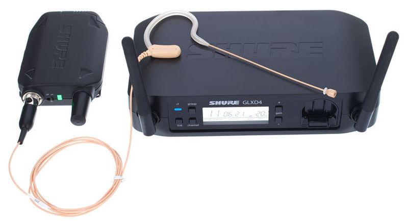 Радиосистема с головным микрофоном Shure GLXD14/MX53 радиосистема с головным микрофоном akg pw45 sport set band m