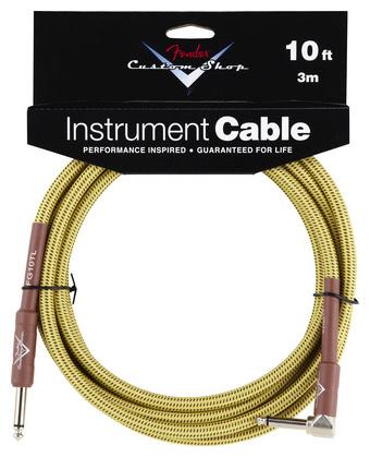 Кабель инструментальный Fender Custom Shop Angle Cable TW 3m fender 10 angle instrument cable black