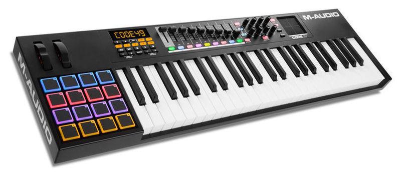MIDI-клавиатура 49 клавиш M-Audio CODE 49 Black midi клавиатура 61 клавиша m audio code 61 black