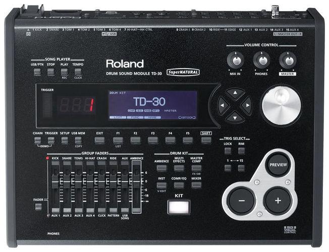 Звуковой модуль для установок Roland TD-30 Sound Module хай хэт и контроллер для электронной ударной установки roland fd 9 hi hat controller pedal