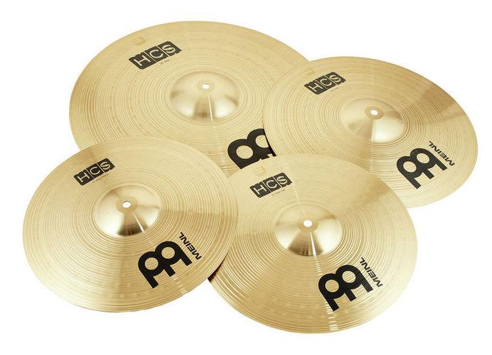 Набор барабанных тарелок Meinl HCS Cymbal Set Standard хай хэт и контроллер для электронной ударной установки millenium mps 200 mono cymbal pad