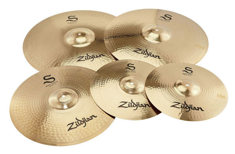 Набор барабанных тарелок Zildjian S Series Rock Cymbal Set zildjian s family rock cymbal set 14 s rock hi hats 18 s rock crash 20 s rock crash 22 s rock ride