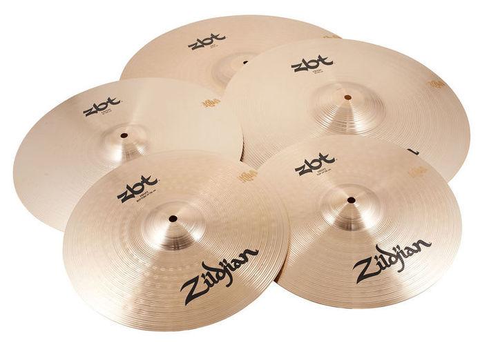 Набор барабанных тарелок Zildjian ZBT 5 Box Set 390-A хай хэт и контроллер для электронной ударной установки zildjian gen16 buffed bronze 14 hi hat