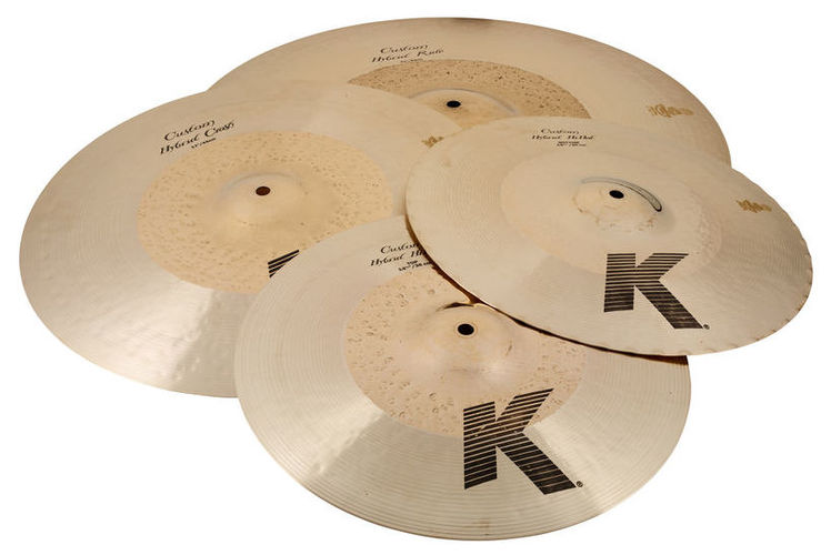 Набор барабанных тарелок Zildjian K Custom Hybrid Cymbal Set хай хэт и контроллер для электронной ударной установки millenium mps 200 mono cymbal pad