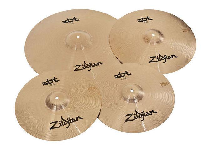 Набор барабанных тарелок Zildjian ZBT 5 Box Set 460 хай хэт и контроллер для электронной ударной установки zildjian gen16 buffed bronze 14 hi hat