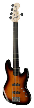 5-струнная бас-гитара Fender Squier Deluxe Jazz V Bass 3SB fender precision bass deluxe 5