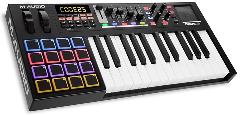 MIDI-клавиатура 25 клавиш M-Audio Code 25 Black midi клавиатура 61 клавиша m audio code 61 black