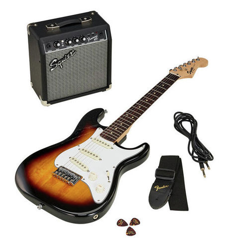Комплект с электрогитарой Fender SQ Strat Pack SSS BSB комбо для гитары fender frontman 10g 10 watts
