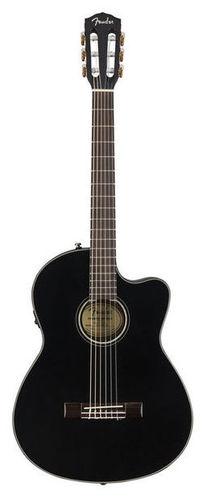 Классическая гитара 4/4 Fender CN-140SCE Black fender cc 140sce sb