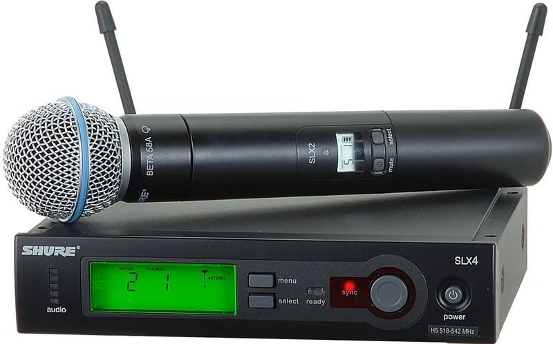 все цены на Готовый комплект радиосистемы Shure SLX24E/B58 онлайн