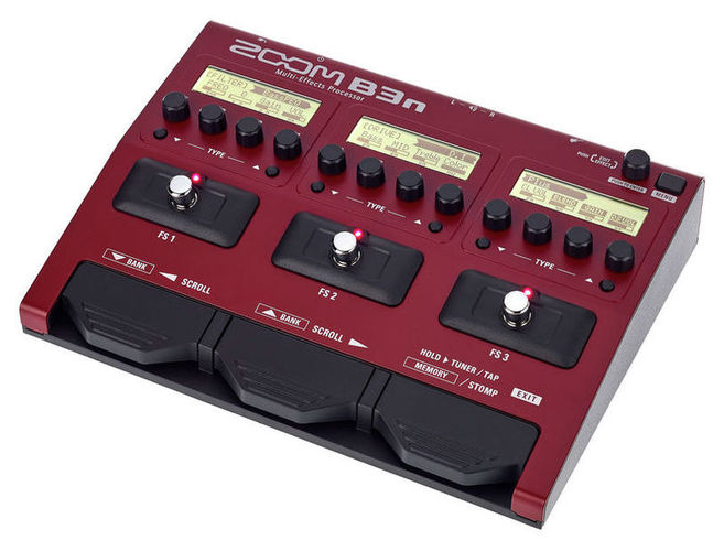 Гитарный процессор для бас-гитары Zoom B3n
