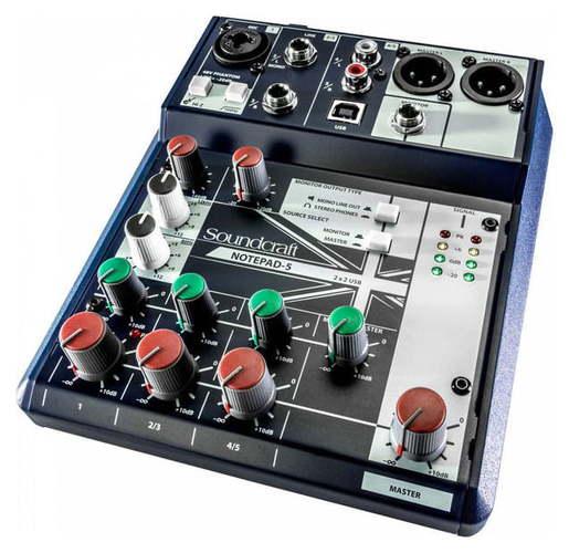 микшерные пульты soundcraft epm8 микшерный пульт Аналоговый микшер Soundcraft Notepad-5