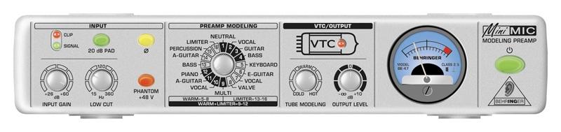 Микрофонный предусилитель Behringer MINIMIC MIC800 аксессуар behringer микрофонный предусилитель mic2200
