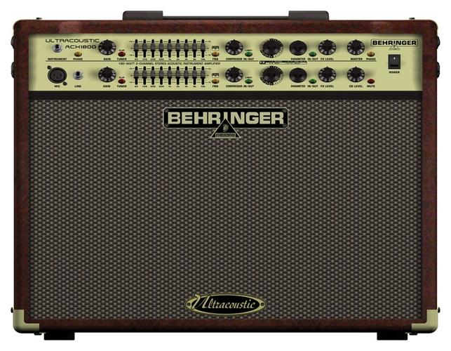 Усилитель для акустической гитар Behringer ULTRACOUSTIC ACX1800 усилитель для акустической гитар roland cube street ex