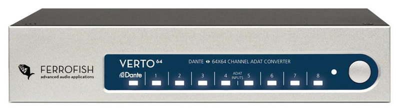 ЦАП-АЦП конвертер Ferrofish Verto 64 цап ацп конвертер mutec mc 2