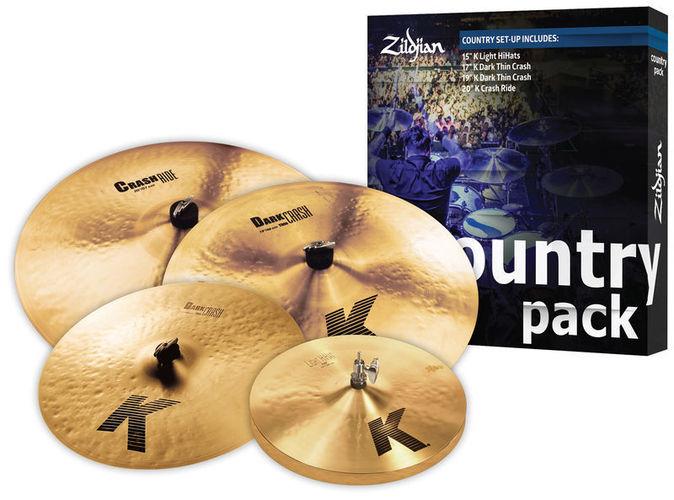 Набор барабанных тарелок Zildjian K Country Pack хай хэт и контроллер для электронной ударной установки zildjian gen16 buffed bronze 14 hi hat