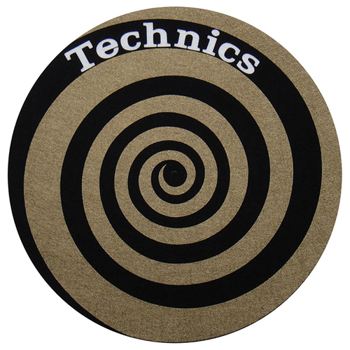Слипмат Technics Slipmats Spiral Golden Black/Golden melissa