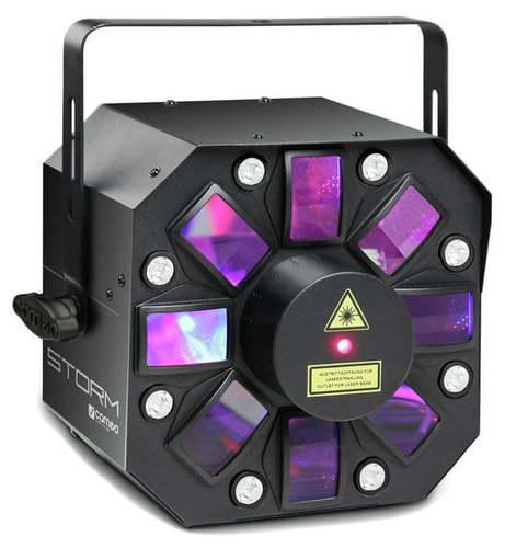 Лазер RGB Cameo Storm LED/Laser Effekt storm фон бумажный savage 70 12 widetone storm gray цвет серая буря rgb 156 148 142 2 72 х 11 метров