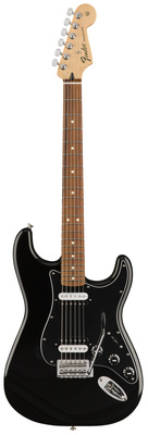 Стратокастер Fender Standard Strat HH PF BLK выключатель проходной двухклавишный с подсветкой werkel aluminium серо коричневый wl07 sw 1g wl07 sw 2g 2w led