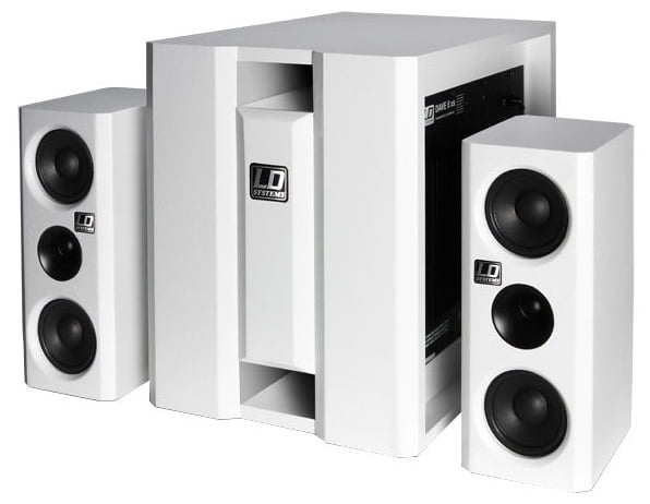 Комплект акустических систем LD Systems Dave 8 XS White стойка под акустику ld systems dave 8 set 2