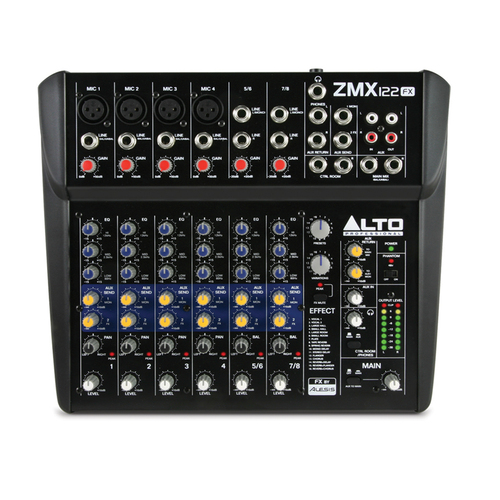 Аналоговый микшер Alto ZMX122FX микшерные пульты alto zmx124fxu
