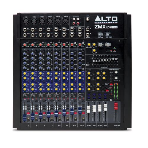 Аналоговый микшер Alto ZMX124FX USB микшерные пульты alto zmx124fxu