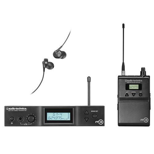 Беспроводная система персонального мониторинга Audio-Technica M3 приёмник и передатчик для радиосистемы akg dsr700 v2 bd1