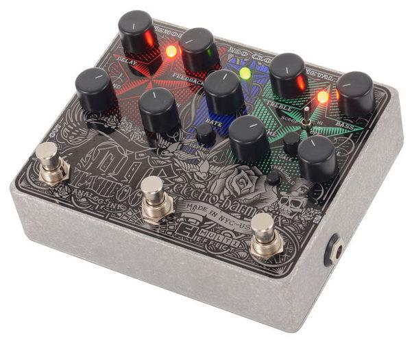 Моделирующая и специальная педаль эффектов Electro-Harmonix Tone Tattoo Multi-Effects Pedal douk audio 1pc electro harmonix eh kt90
