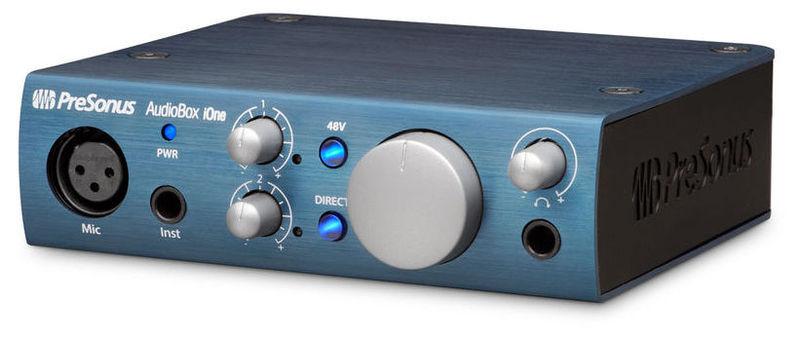 Звуковая карта внешняя PreSonus Audiobox iONE аудио интерфейс presonus audiobox 44vsl ubs 2 0