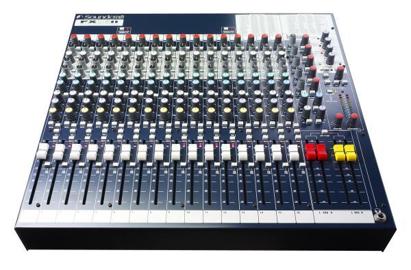 микшерные пульты soundcraft epm8 микшерный пульт Аналоговый микшер Soundcraft FX16ii