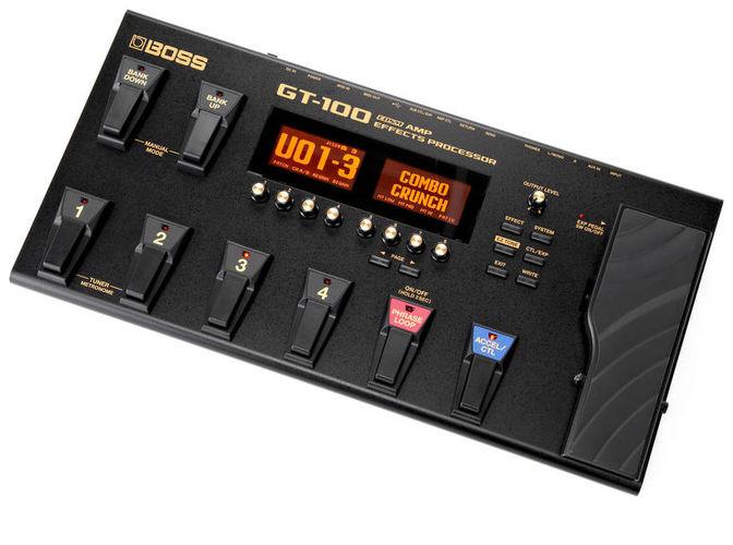 Гитарный процессор для электрогитары Boss GT-100  цена и фото