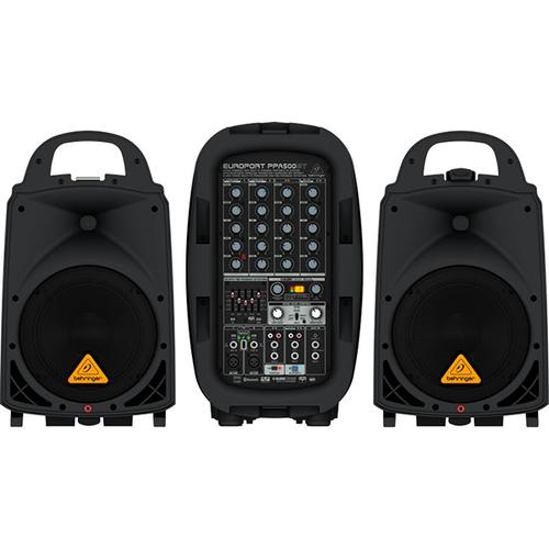 Комплект акустических систем Behringer EUROPORT PPA500BT активная акустическая система behringer europort eps500mp3