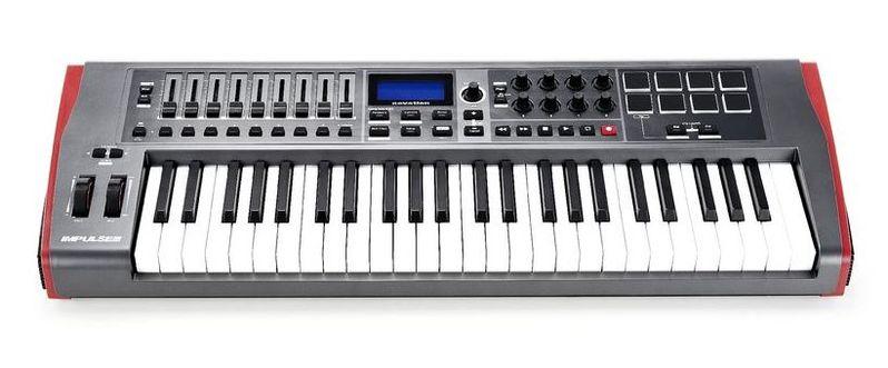 MIDI-клавиатура 49 клавиш Novation Impulse 49 midi клавиатура 49 клавиш alesis q49