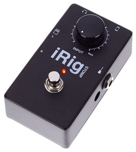 iPad/iPhone гитарный интерфейс/FX IK Multimedia iRig Stomp ik multimedia irig powerbridge