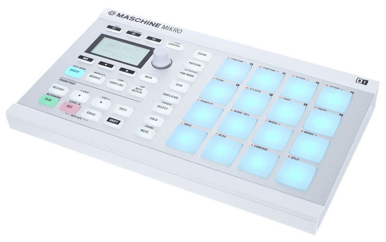 MIDI, Dj контроллер Native Instruments MASCHINE MIKRO MK2 white