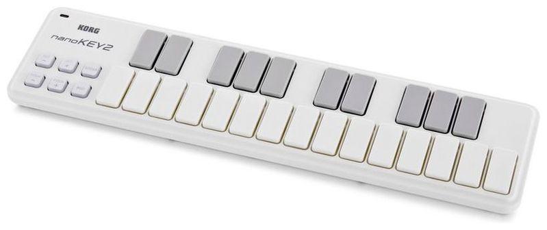 MIDI-клавиатура 25 клавиш Korg NanoKEY2 White midi контроллер korg nanopad2 white