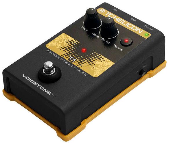 Компрессор, гейт, лимитер TC HELICON VoiceTone T1 вокальный процессор tc helicon voicetone correct xt
