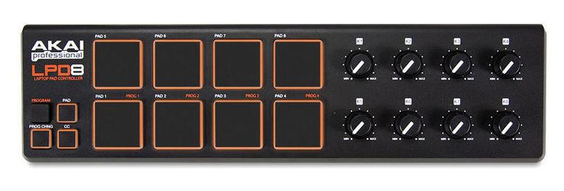 MIDI, Dj контроллер AKAI LPD8 midi контроллер g volca sample