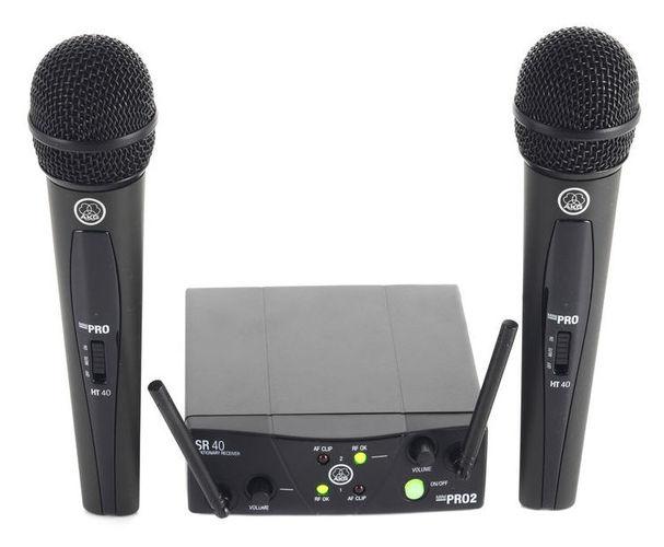 Готовый комплект радиосистемы AKG WMS 40 Mini2 Vocal радиотелефон dect panasonic kx tgf310rum серый металлик