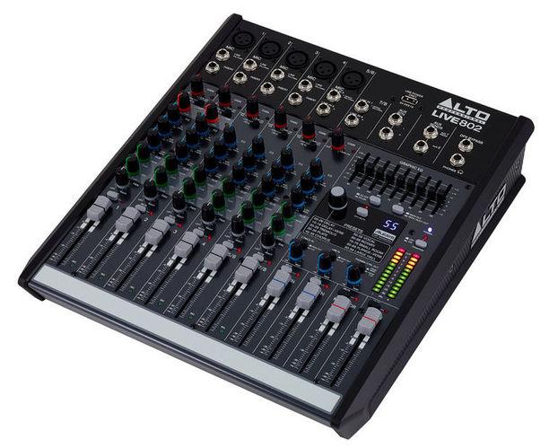 Аналоговый микшер Alto Live 802 аналоговый микшерный пульт eurosound compact 1204x