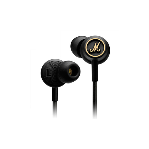 Вкладные наушники MARSHALL Mode EQ Headphones BLACK & GOLD buy marshall monitor headphones