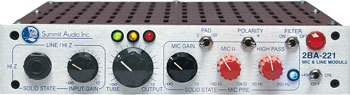 Инструментальный предусилитель Summit Audio 2Ba-221 предусилитель стерео icon audio ba 2 mk ii