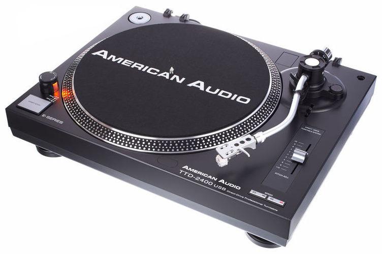 Проигрыватель винила с прямым приводом American Audio TTD 2400 USB проигрыватель винила avid hifi acutus sp chrome