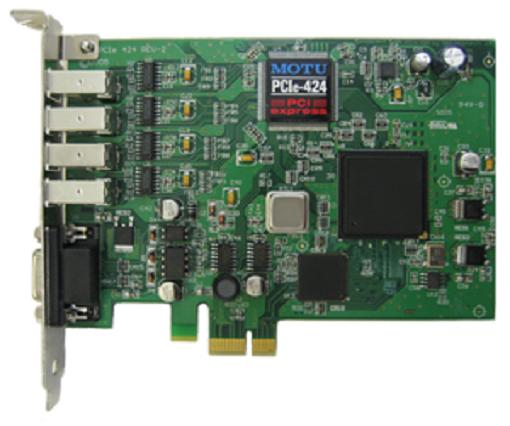 Звуковая карта интегрируемая MOTU PCI 424 e-card