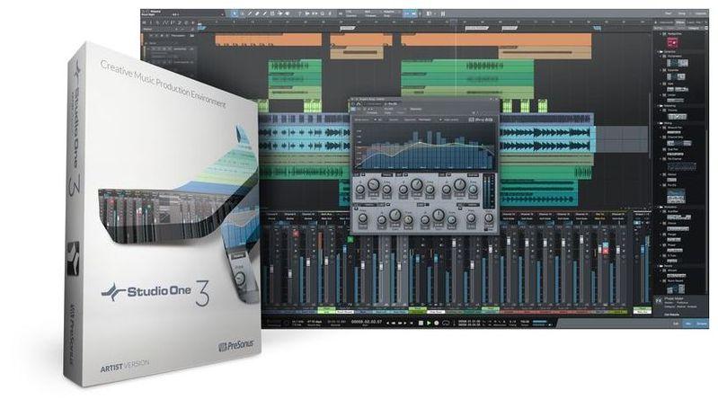 Софт для студии PreSonus Studio One V3 Artist аудио интерфейс presonus audiobox 44vsl ubs 2 0