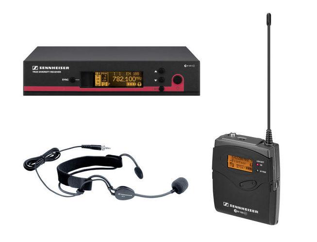 Радиосистема с головным микрофоном Sennheiser EW 152-G3-E радиосистема с головным микрофоном akg pw45 sport set band m