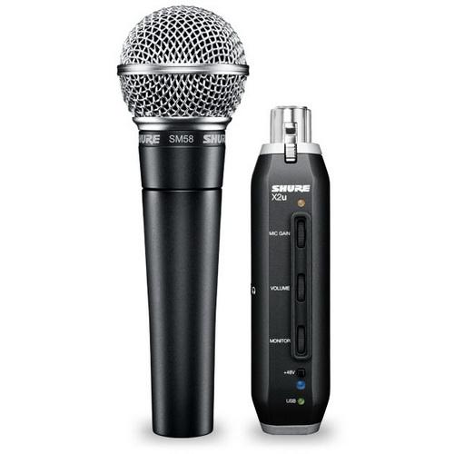 Динамический микрофон Shure SM58-X2U shure sm58 lce кардиоидный динамический вокальный микрофон black