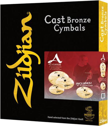 Набор барабанных тарелок Zildjian A-Custom Professional Prom Set хай хэт и контроллер для электронной ударной установки zildjian gen16 buffed bronze 14 hi hat